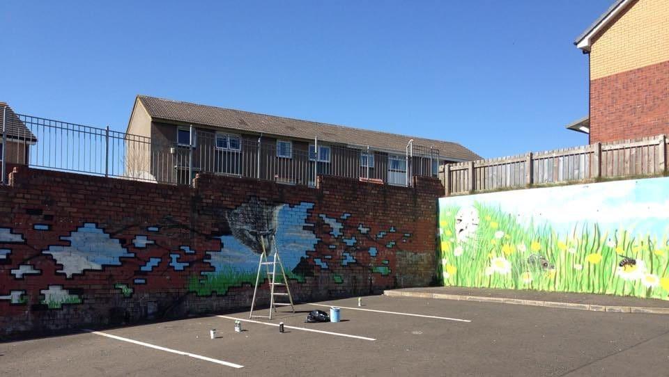 Fernhill community street art