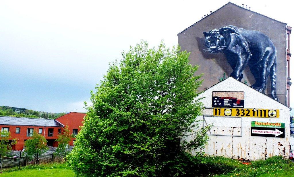Maryhill mural Panther street art