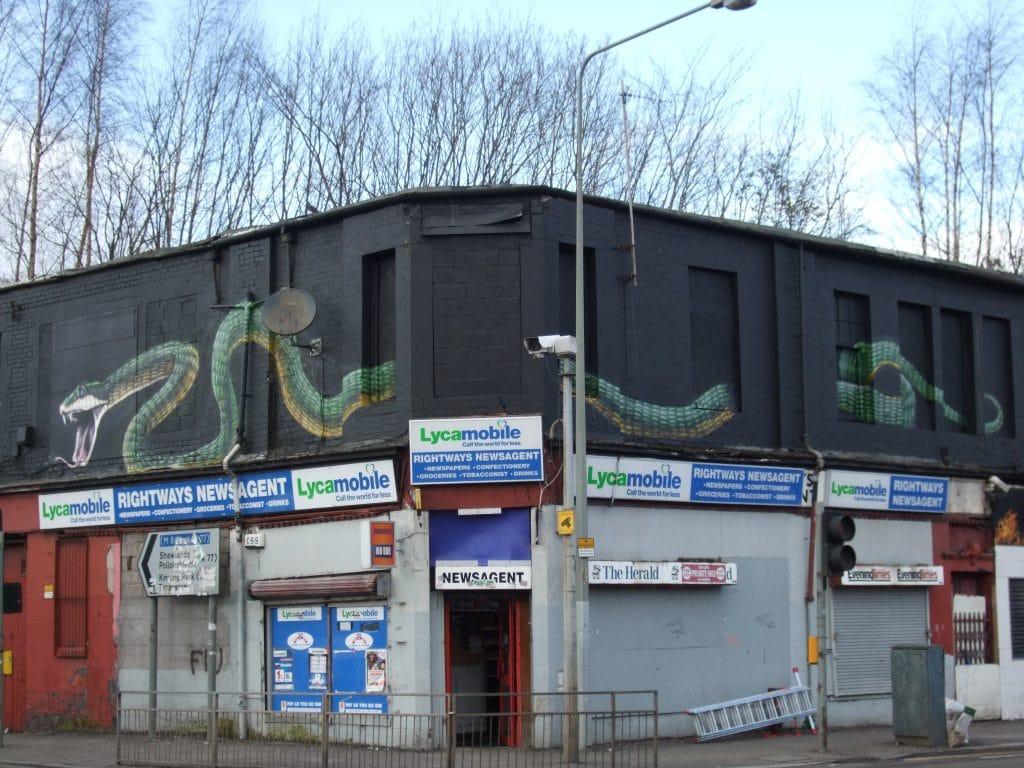 The Gorbals Snake street art