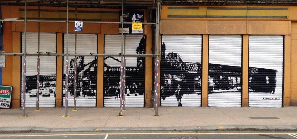 Shopfront mural
