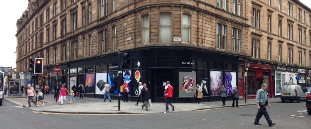 39 Trongate Glasgow window art