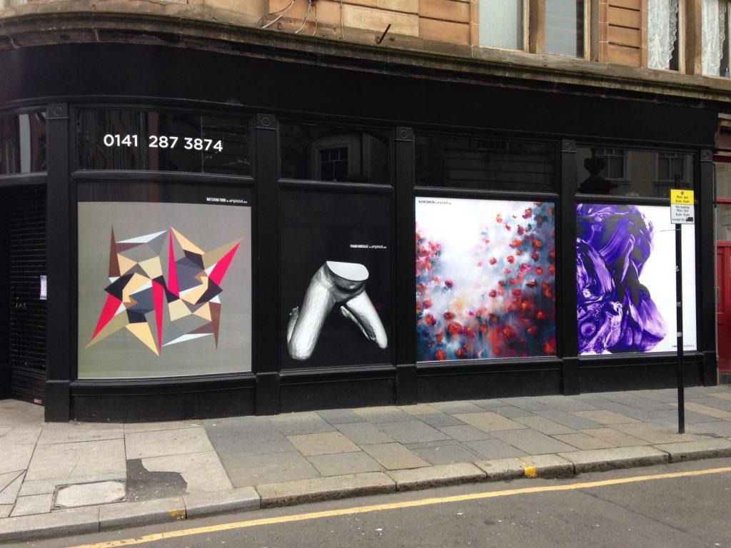 Art in windows Glasgow