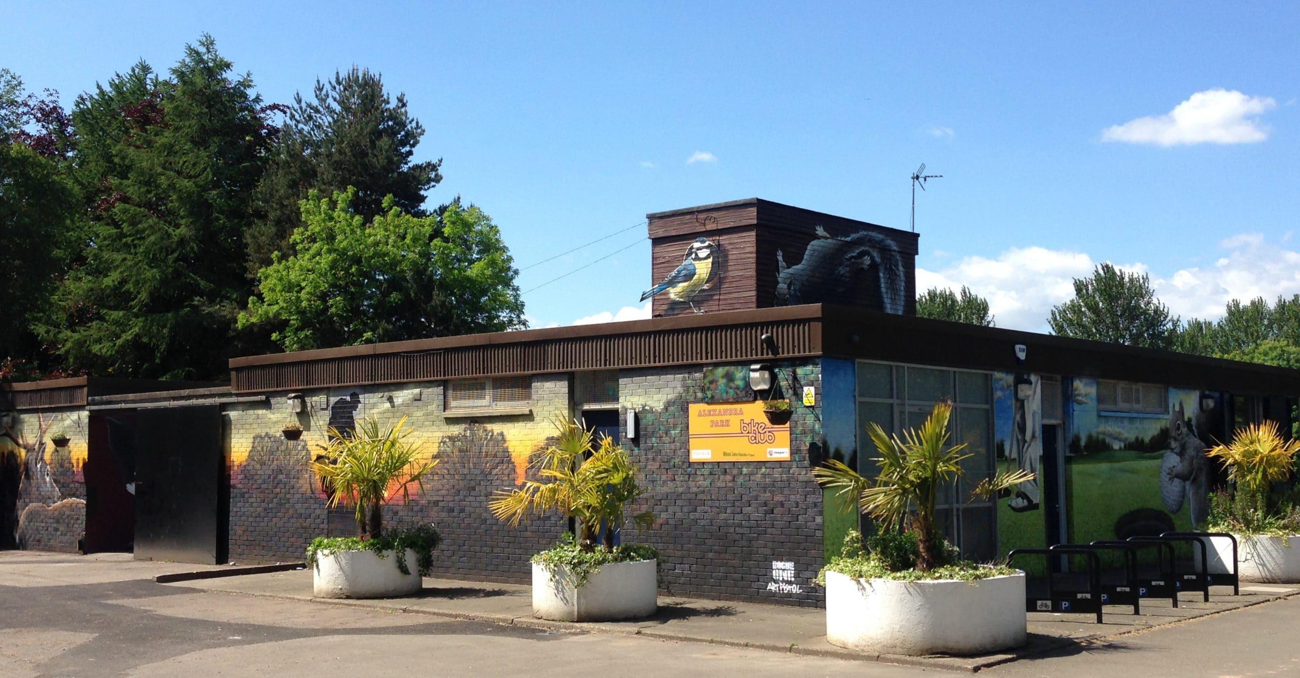 Community centre mural Scotland
