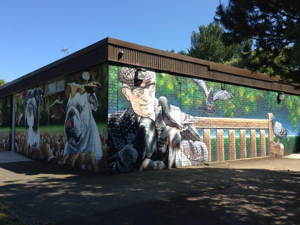 Murals east end Glasgow