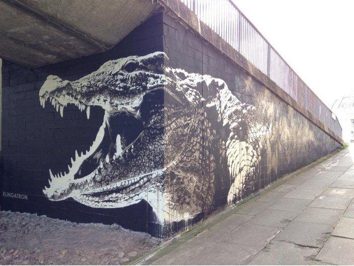 Charing Cross Crocodile mural