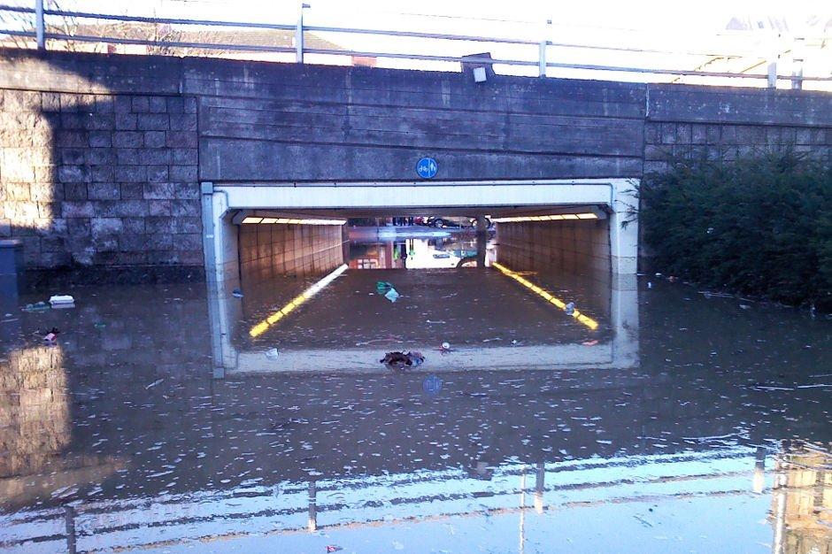 Cowcaddens Flooded