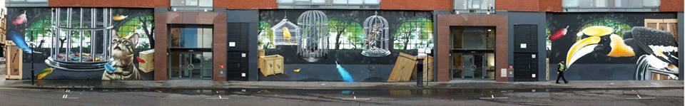 Aviary mural