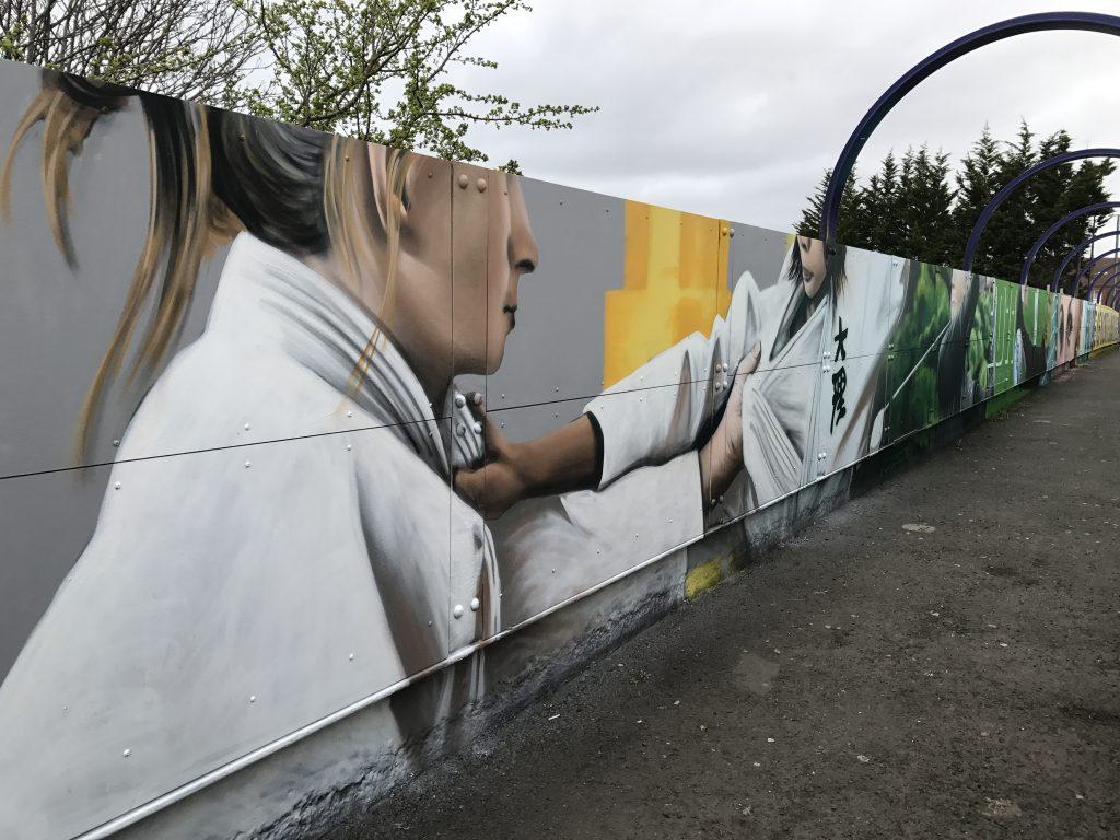 Judo street art