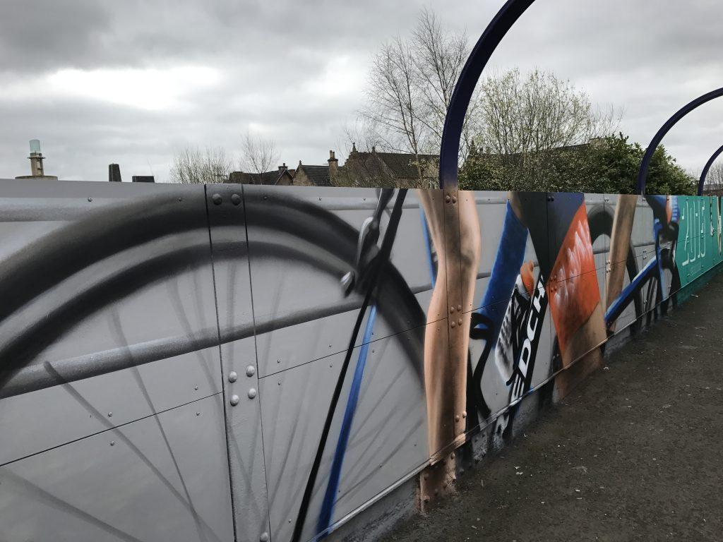 Cycling mural Scotland