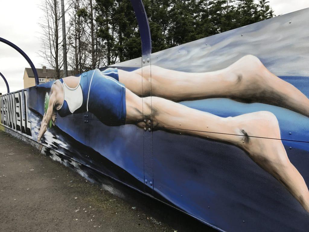 Swimming street art
