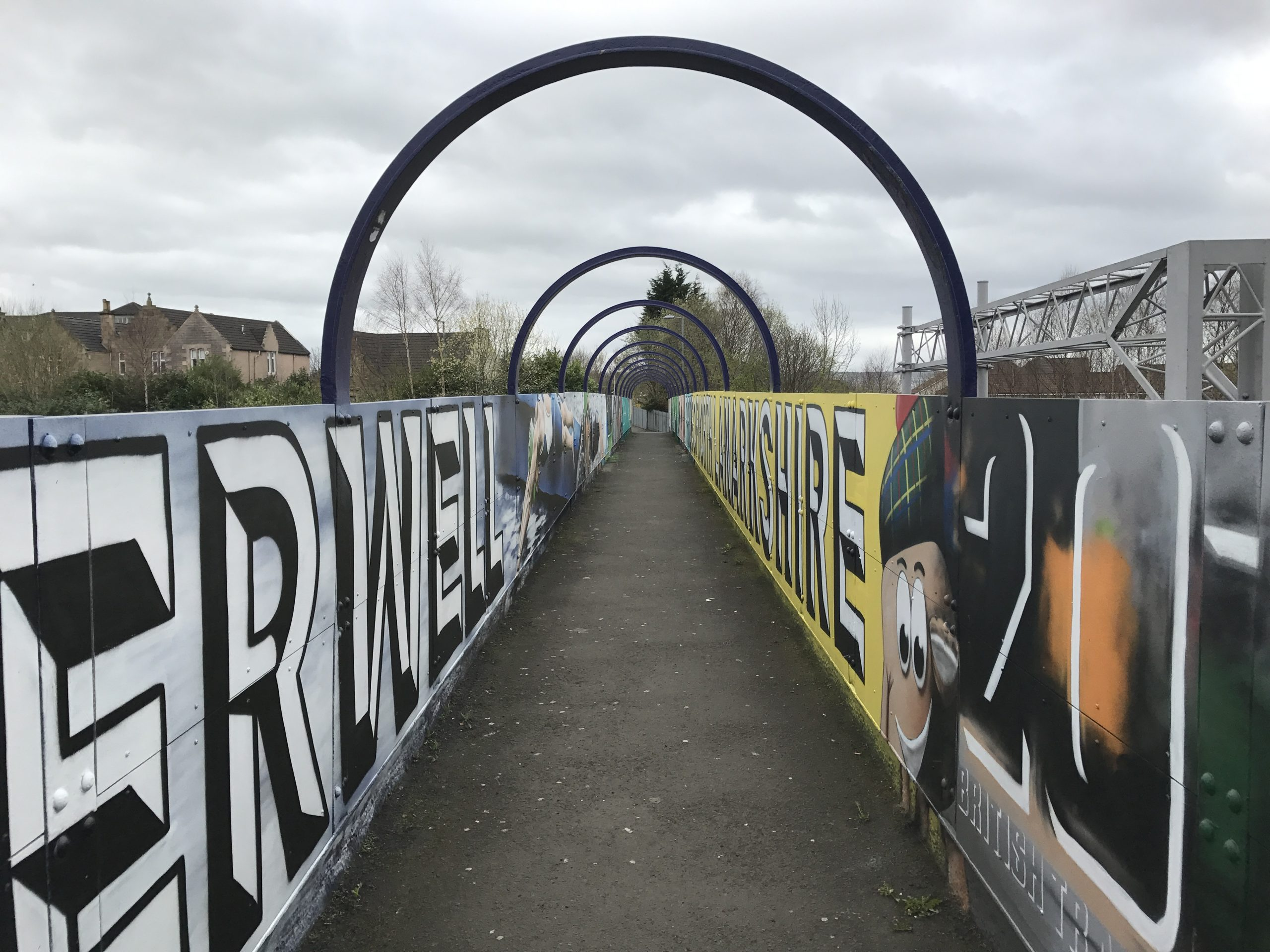 Motherwell bridge mural