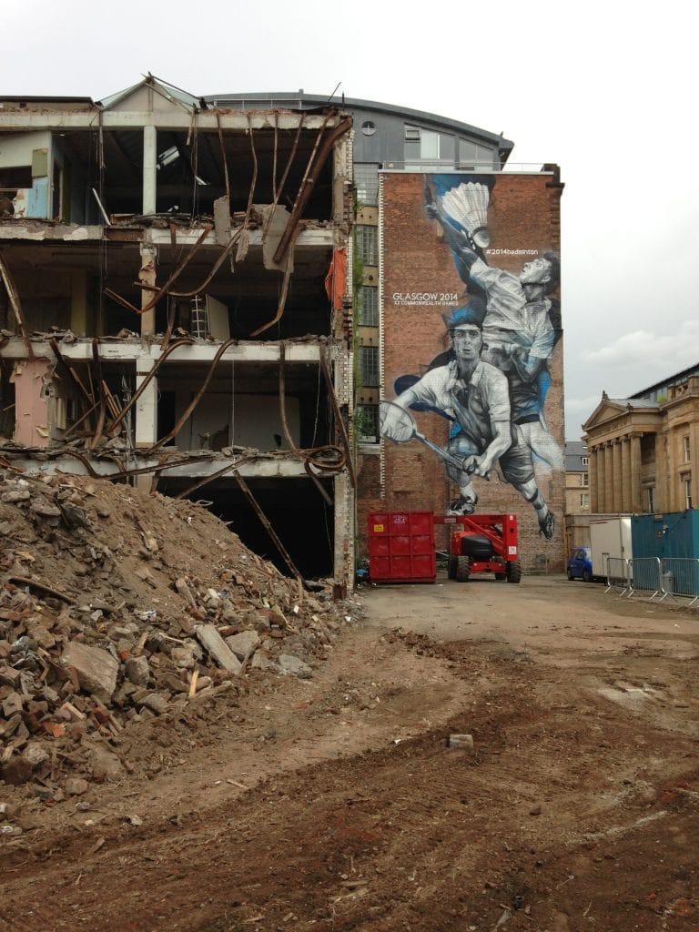 Glasgow 2014 badminton street art