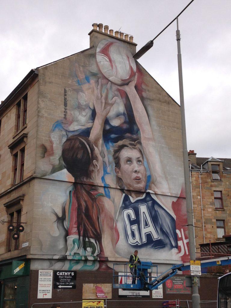Netball mural Glasgow