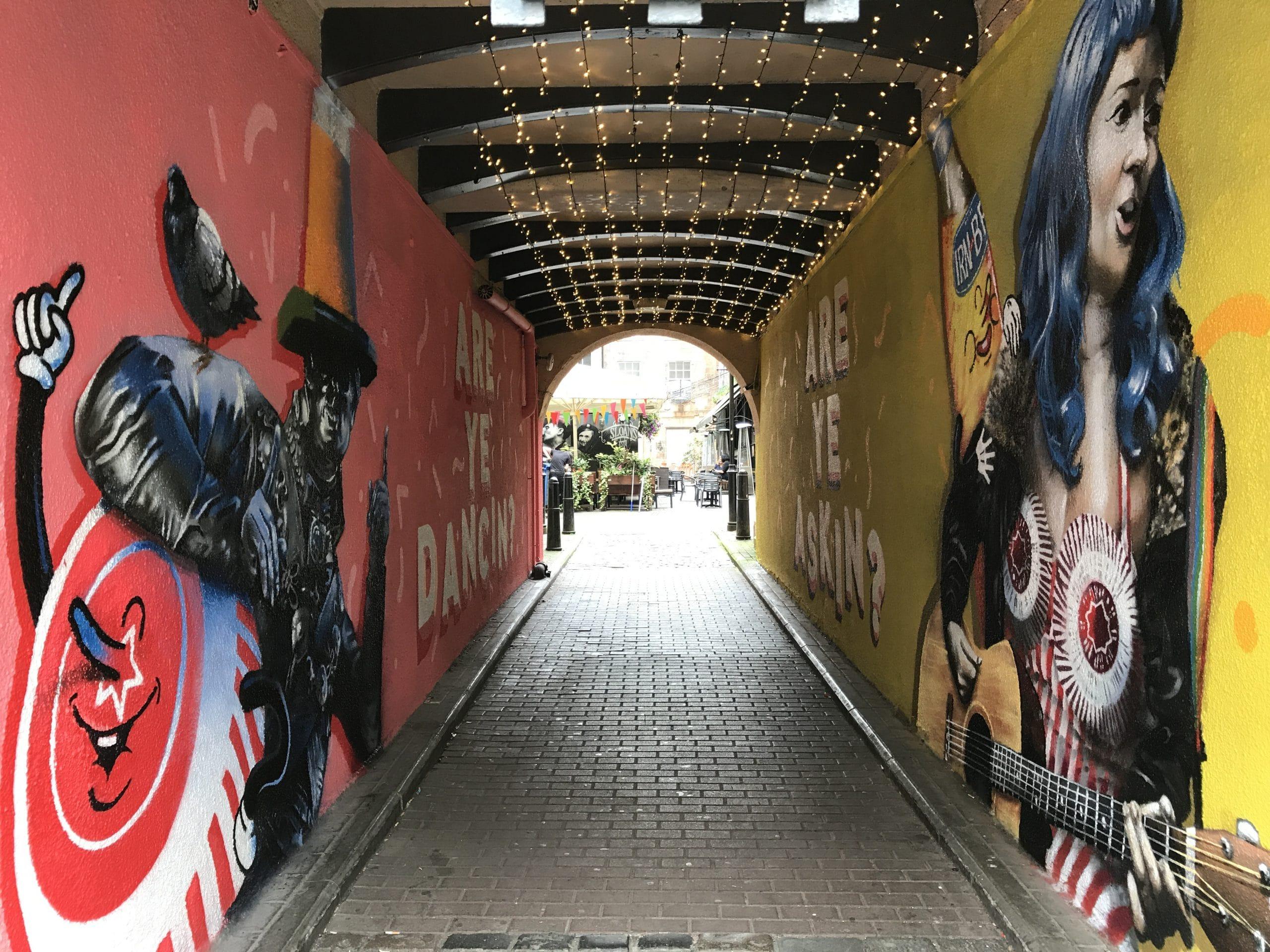 Are Ye Dancin Mural Glasgow