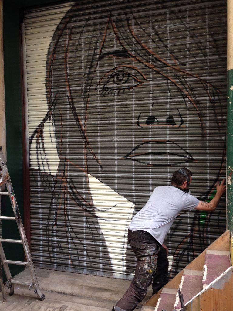 Portrait on shutters Scotland