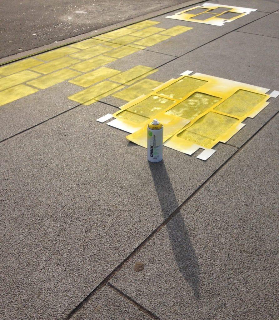 Painted pavement art