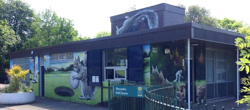 Alexandra golf course mural