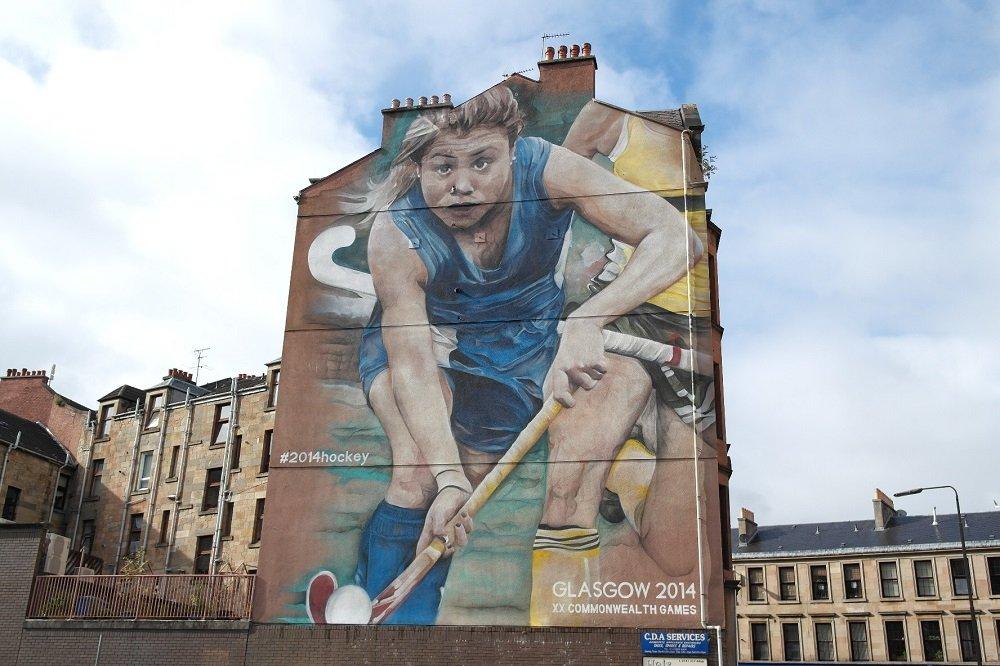 Hockey mural Glasgow