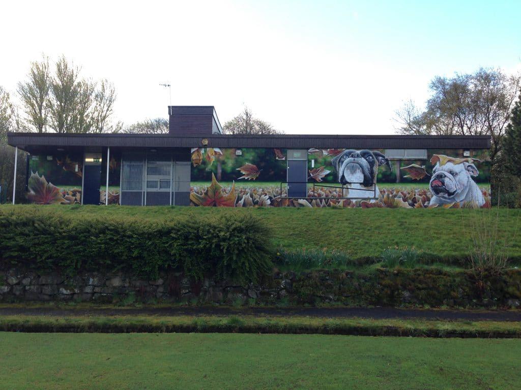 Bulldogs mural east end Glasgow