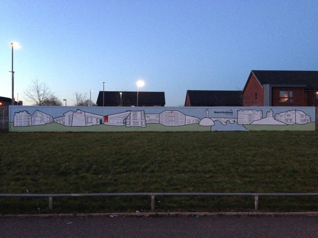 Illustration mural Glasgow