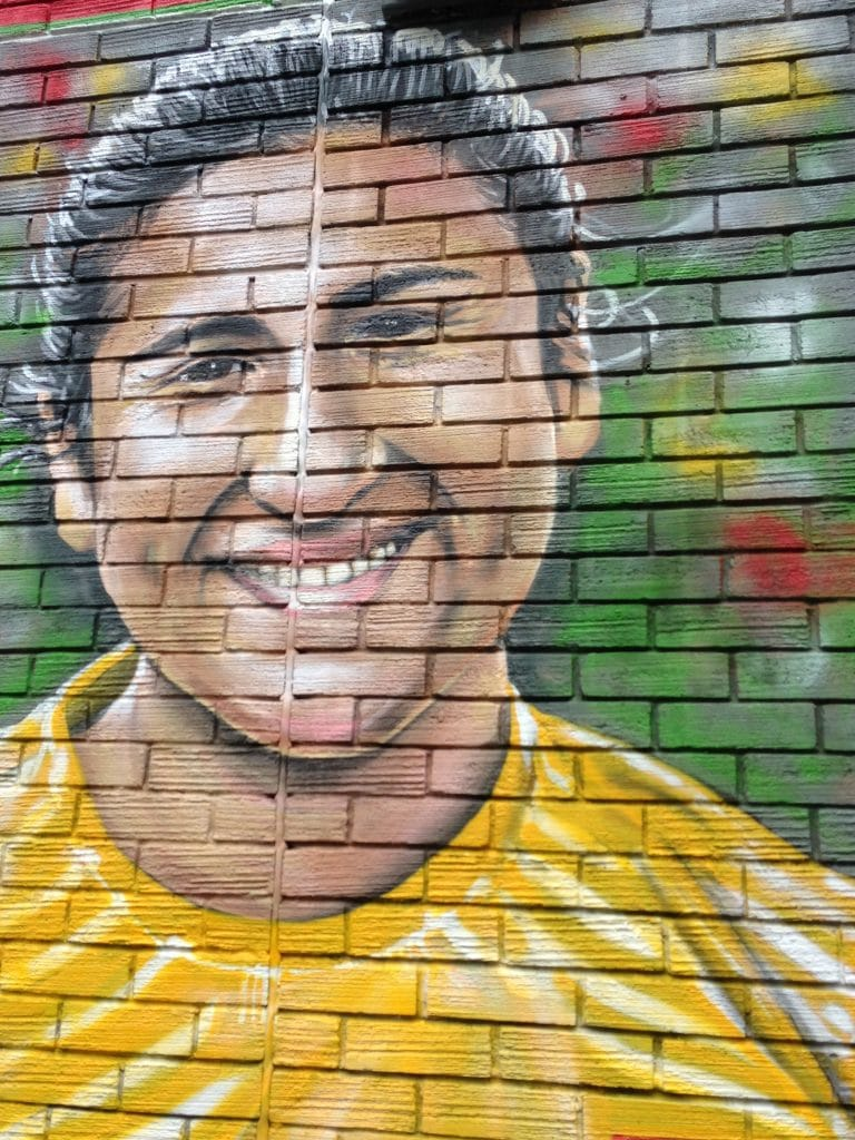 Female football mural