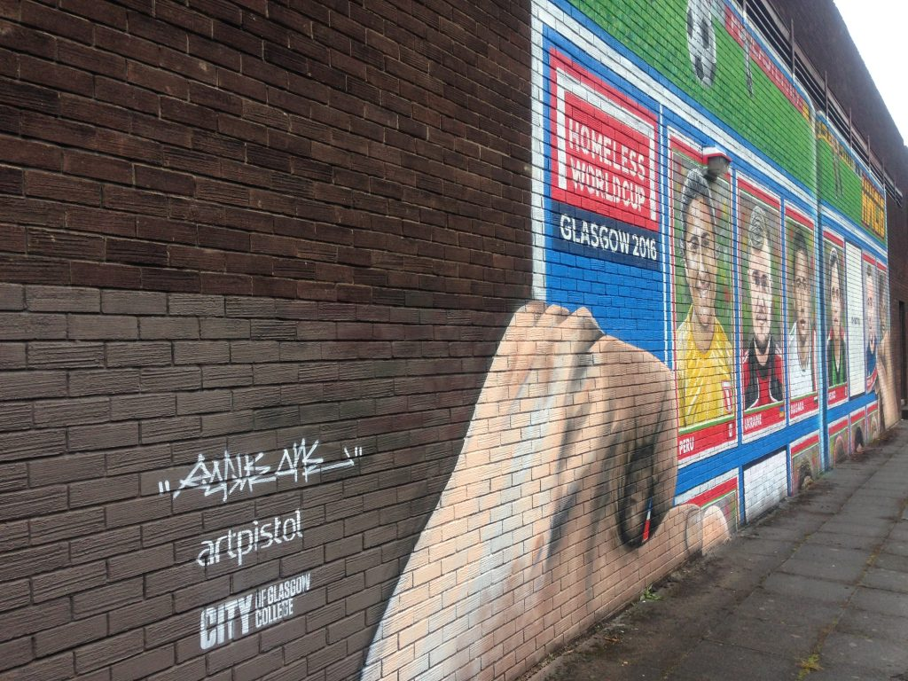 Football mural Glasgow