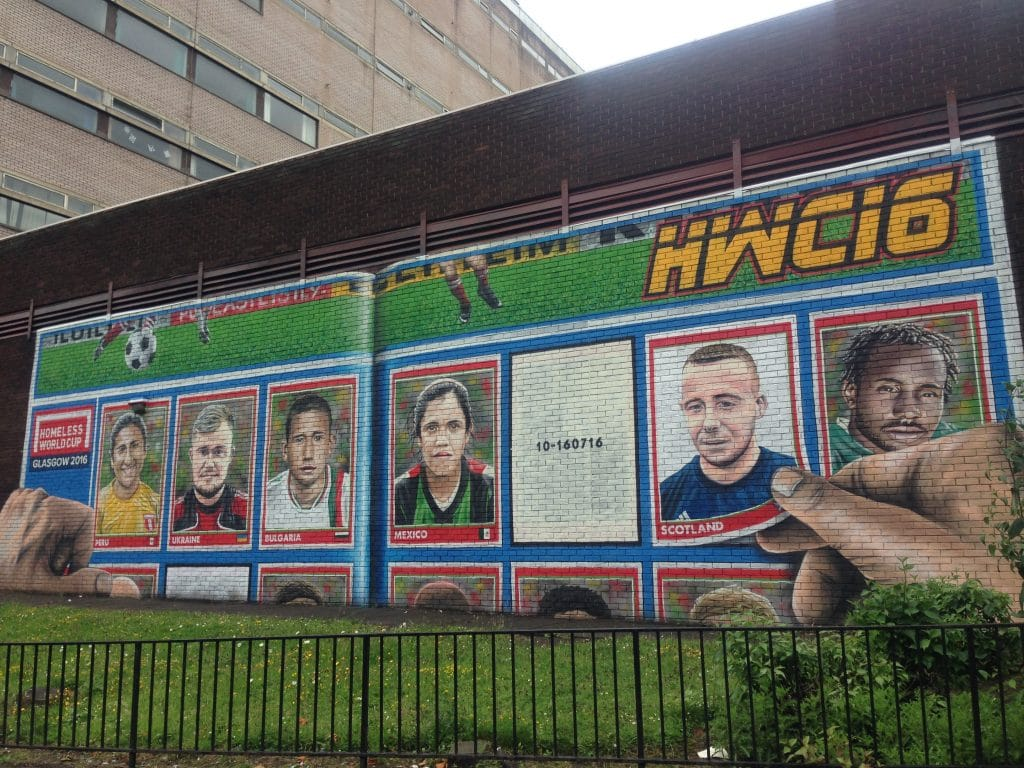 Sticker album mural Glasgow