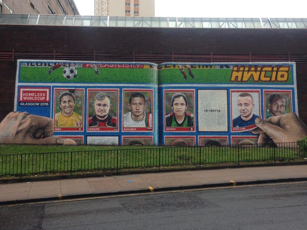 Soccer street art