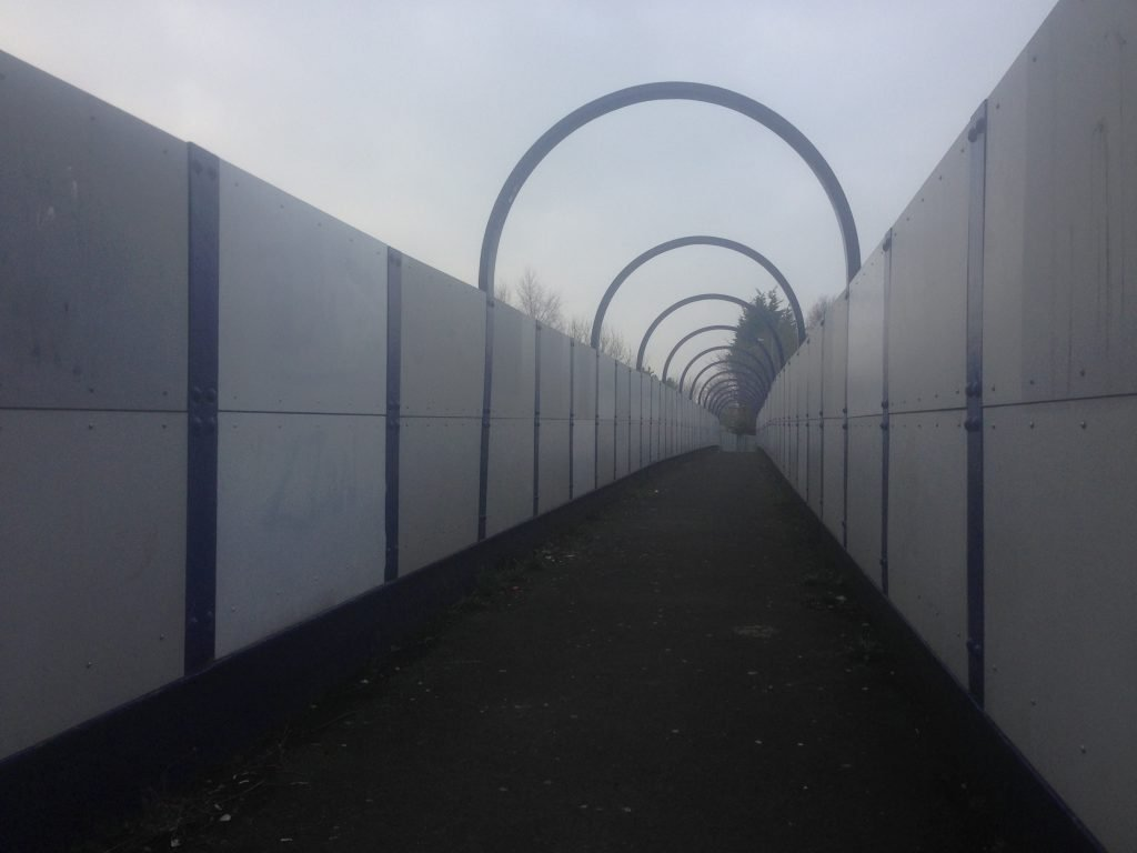 Vandalised foot bridge