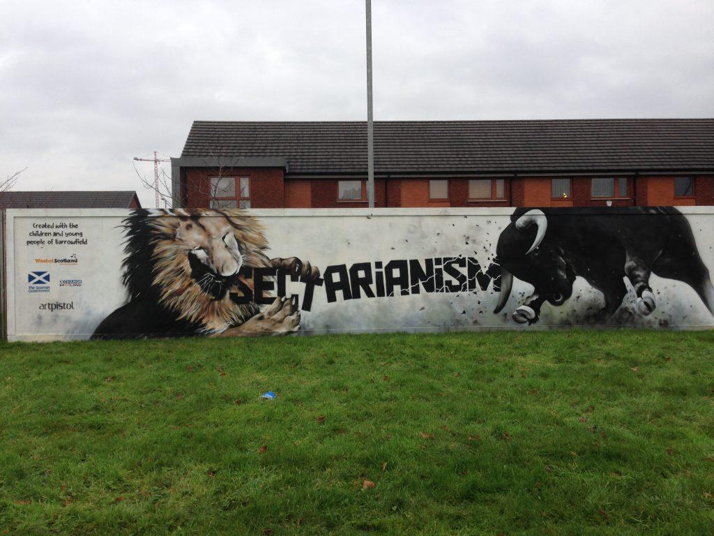 Anti sectarian street art
