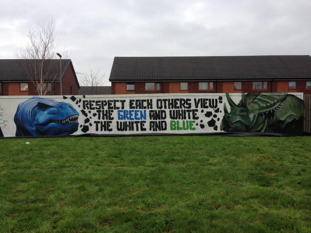 Dinosaur street art