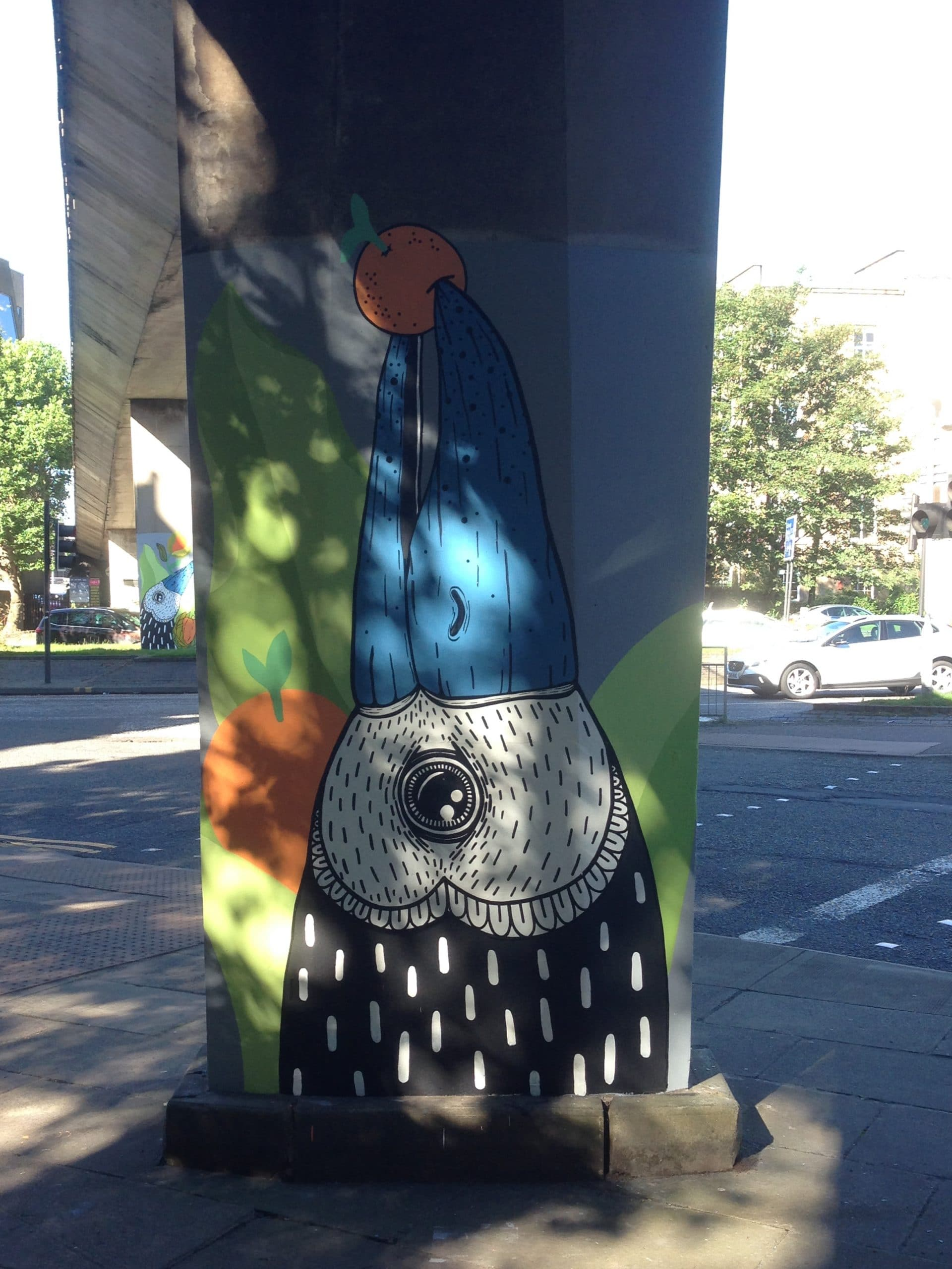 Bird mural Charing Cross