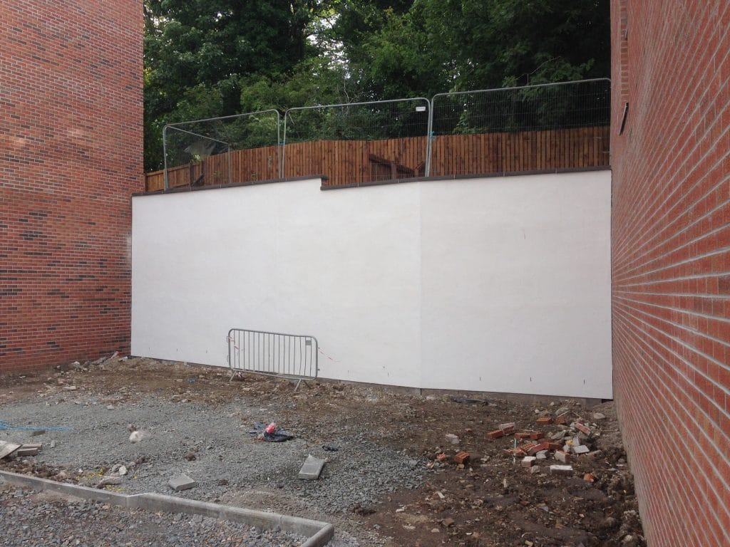Rendered wall for mural