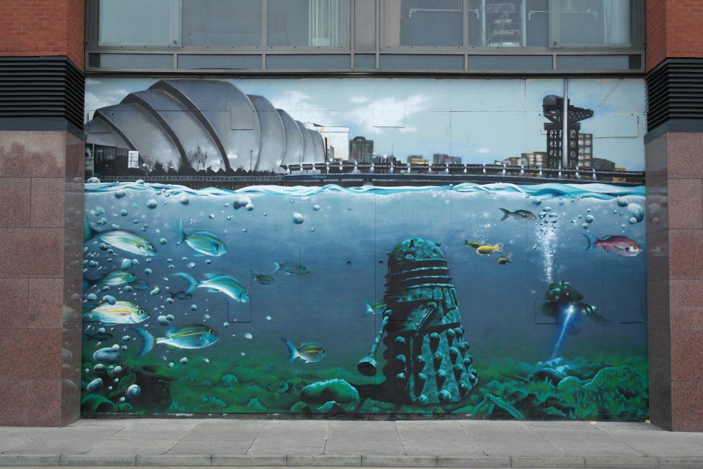 Dalek street art mural