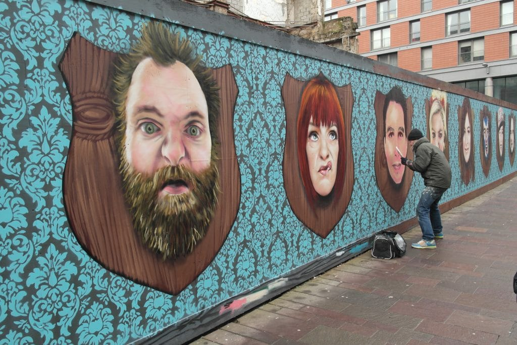 Painting mural in progress