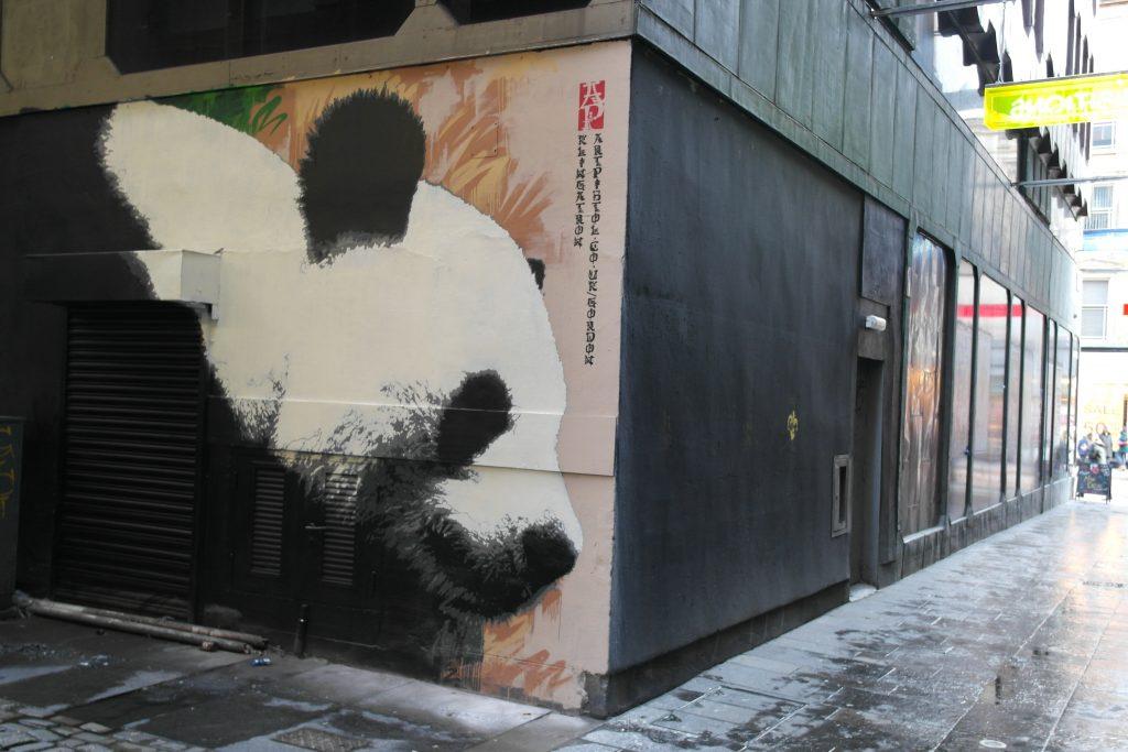 Glasgow Panda mural