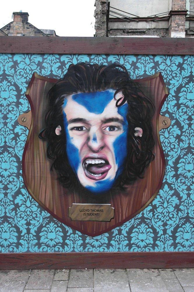 Scottish street art face
