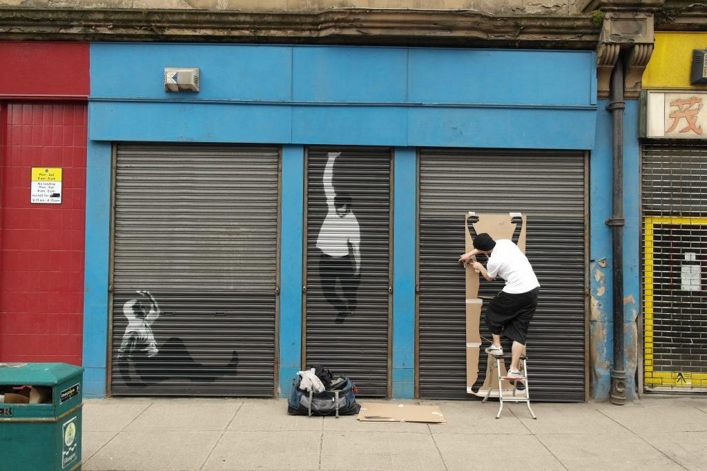 Stencil art in progress