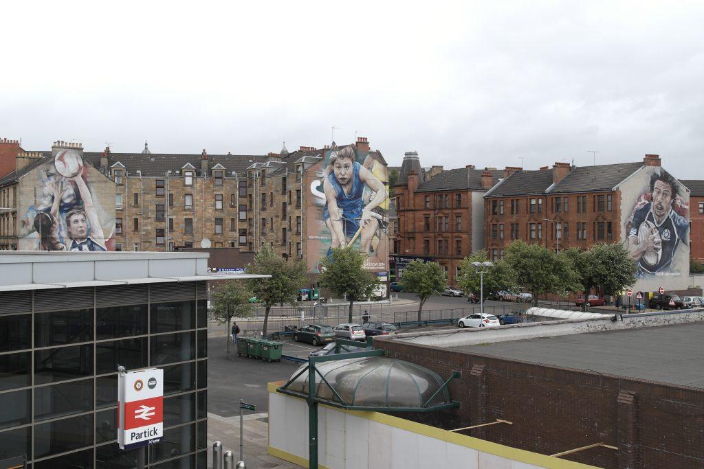 Commonwealth Games murals Glasgow
