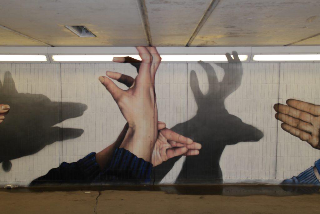 Stag street art Glasgow