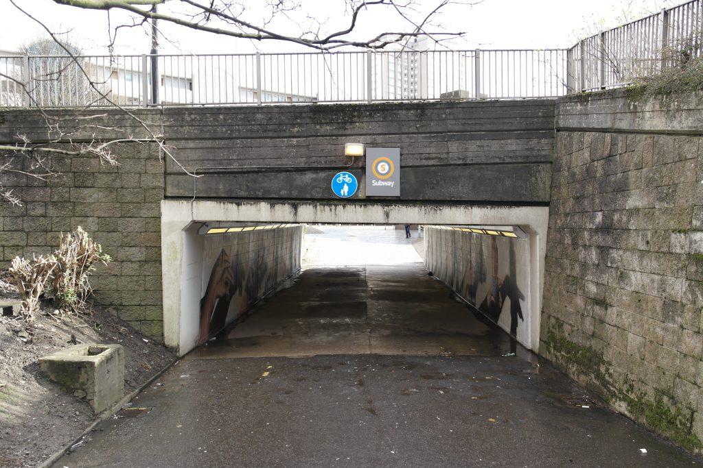 Cowcaddens underpass mural