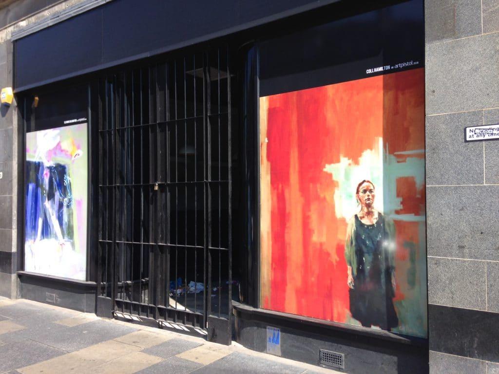 Paintings in windows