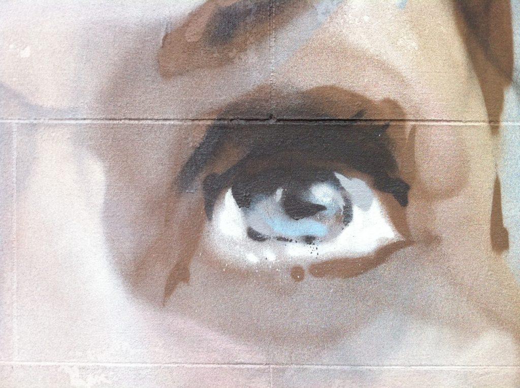 Mural eye detail