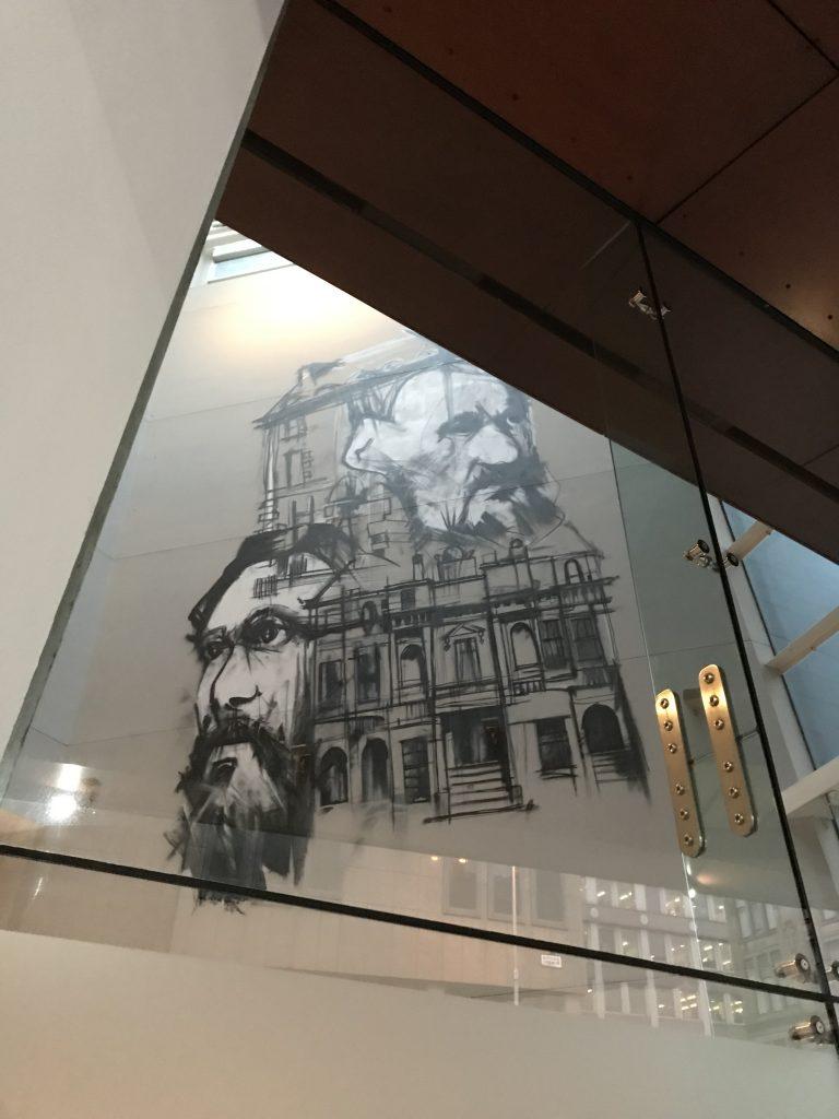 Looking into Radisson Blu mural