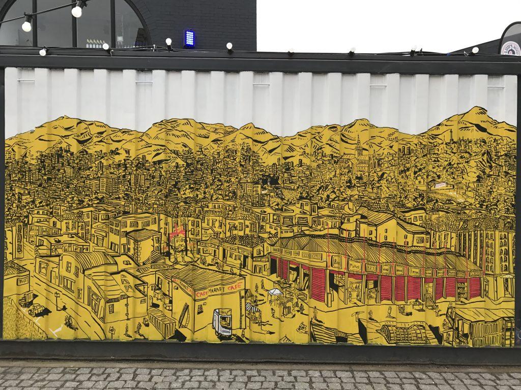 illustration street art Glasgow