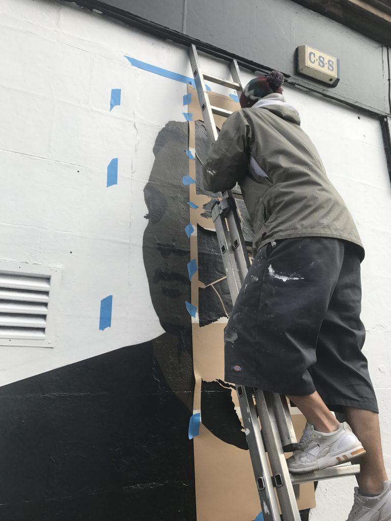 street artist working