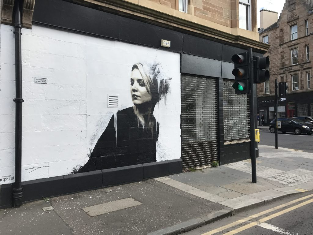 Woman in Black mural