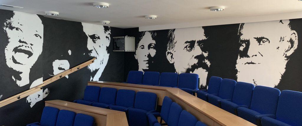 Famous philosophers mural