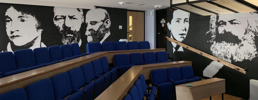 Famous philosophers interior art