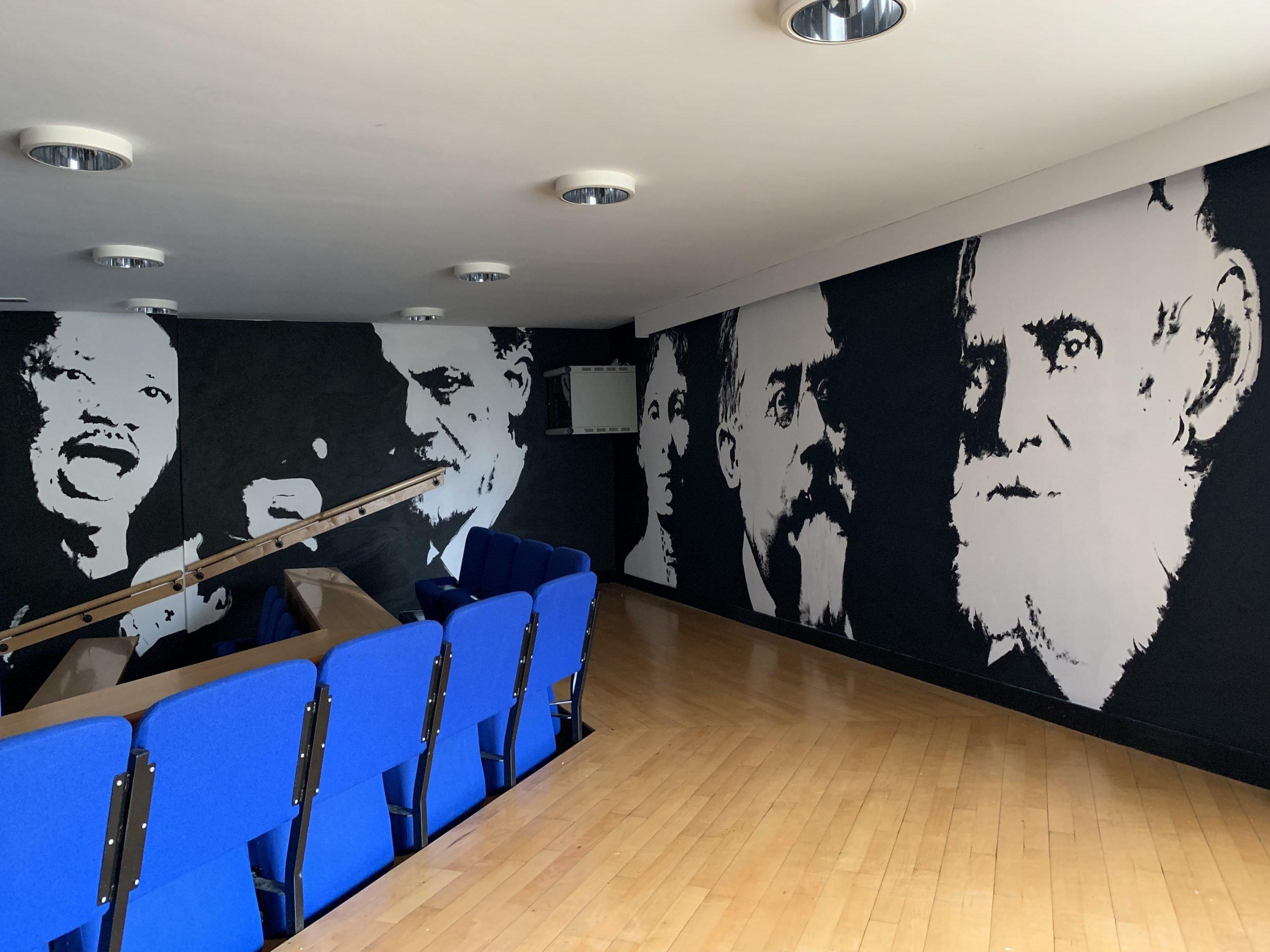 philosophers mural Cumbernauld
